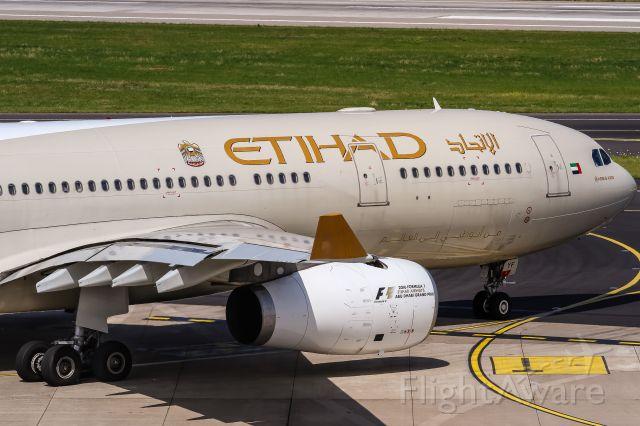 Airbus A330-300 (A6-EYF) - A6-EYF Etihad Airways Airbus A330-243 departing to Abu Dhabi (AUH / OMAA) @ Dusseldorf - Rhein-Ruhr International (DUS / EDDL) / 21.07.2016