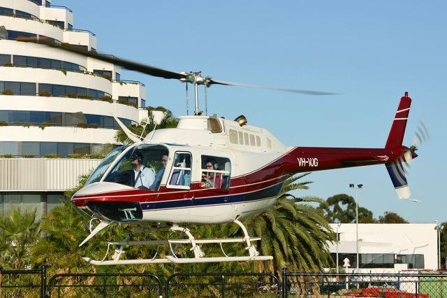 Bell JetRanger (VH-VJG) - Burswood Casino Heliport, Perth, Western Australia
