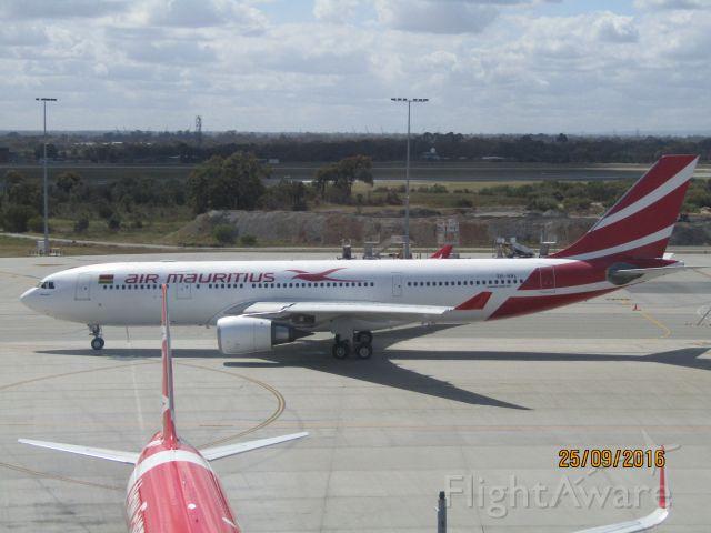 Airbus A330-200 (3B-NBL) - Air Mauritius Airbus A330-200 preparing for a flight to Mauritius.