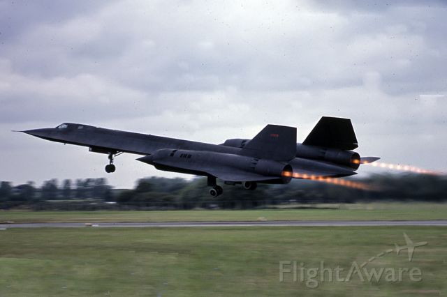 Lockheed Blackbird — - Departing RAF Fairford.