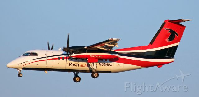 de Havilland Dash 8-100 (N884EA) - Completing an early evening (7:10 PM) approach to Reno Tahoe International
