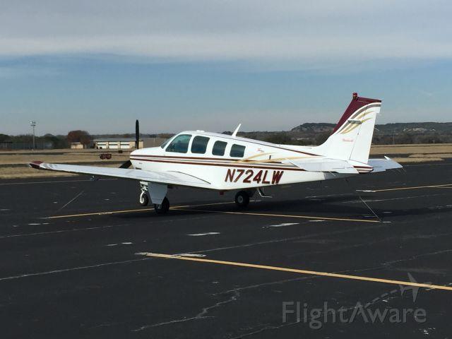 Beechcraft Bonanza (36) (N724LW) - Hanger Hotel Fredericksburg, Texas