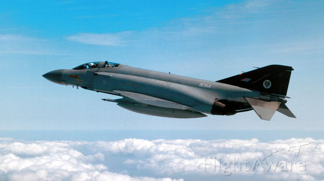 — — - Air to Air combat training with 74 Squadron over the North Sea