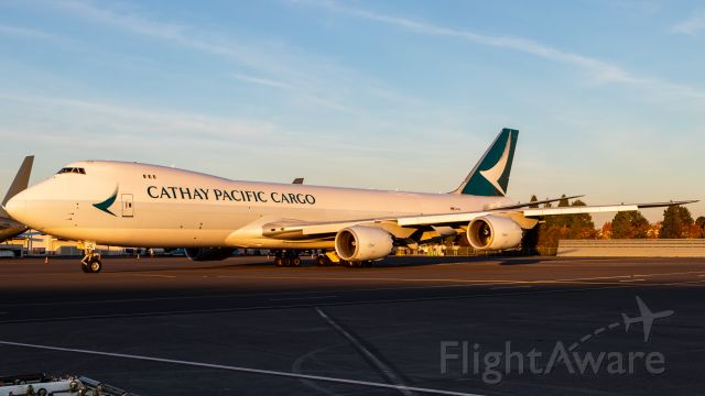 BOEING 747-8 (B-LJG) - When the delay is just right and puts the push in the last ten minutes of light.