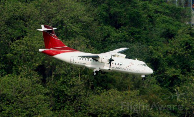 HP004APP — - Ex-Aeroperlas ATR 42/72 - MSN 004 Descending on Rwy 36.