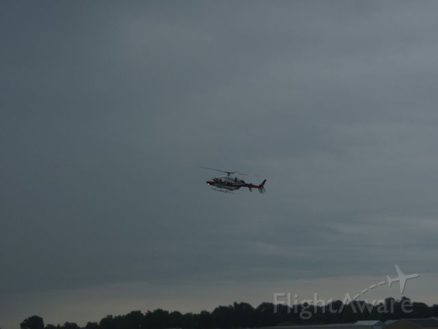 Bell 427 (N1RP) - Used to be Rusty Wallace (2RW), now is flying for Roger Penske  (Visibility was down to aobut 3 miles)