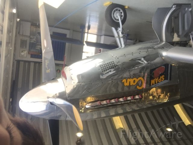 North American P-51 Mustang (NL5441V) - SORRY IS UPSIDE DOWN ITS THAT I TOOK IT ON SELFIE MODE<br />P-51 MUSTANG SPAM CAN