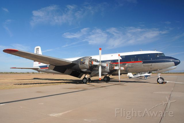 N4887C — - International Air Response DC-7B in Delta Airlines livery.