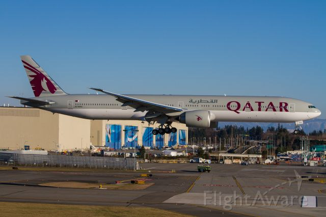 Boeing 777-200 (A7-BAU) - More taken from the Future of Flight Center observation deck at the North end of runway 16R