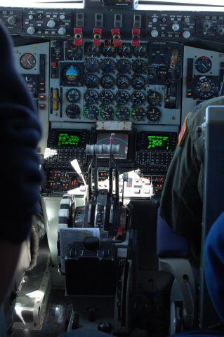 — — - KC-135E inflight over Kansas,  21,000 ft.