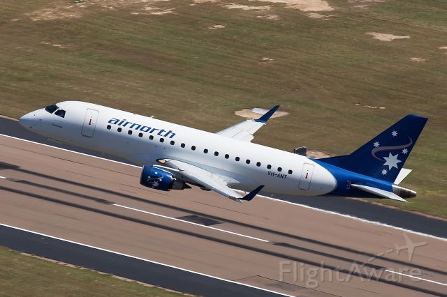 Embraer 170/175 (VH-ANT) - Air to Air from a helicopter