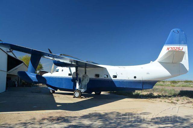 N7025J — - Grumman HU-16C N7025J in the Lauridsen collection at Buckeye Municipal Airport, Arizona on February 18, 2015.