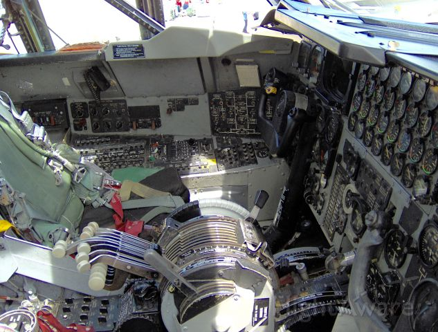 Boeing B-52 Stratofortress (60-0059) - At Barksdale Air Force Base. Looking inside the cockpit.