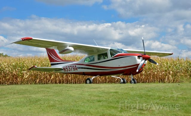 Cessna Centurion (N5379A) - The photo was taken on the home airstrip