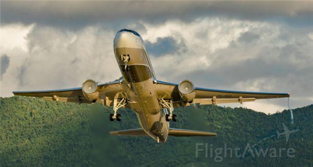 BOEING 767-300 (P4-MES) - Big bandit departing St Maarten at sunset from runaway 28 to Paris.