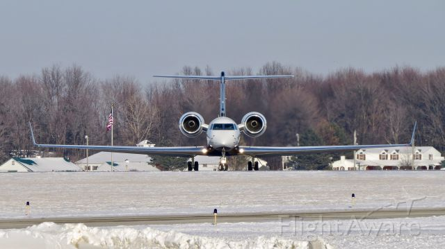 Gulfstream Aerospace Gulfstream V (N150WJ) - Windsor Jet departing CAK after a long trip and overnight from Brazil.