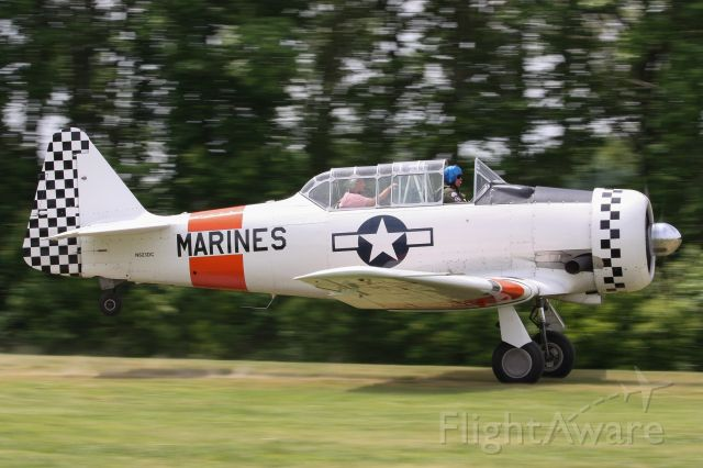 North American T-6 Texan (N632DC) - Beautifully painted T-6 at Warbirds Over the Beach 2019