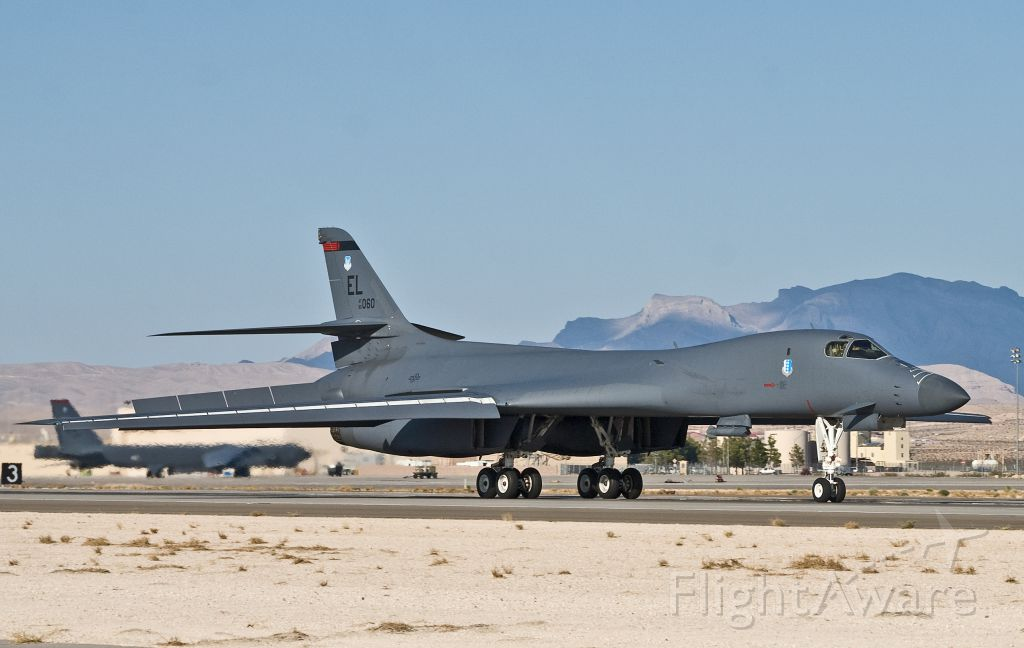 Rockwell Lancer (AFR85060) - B-1B 85-060 returning from a Red Flag 12-4 sortie, July 18, 2012.