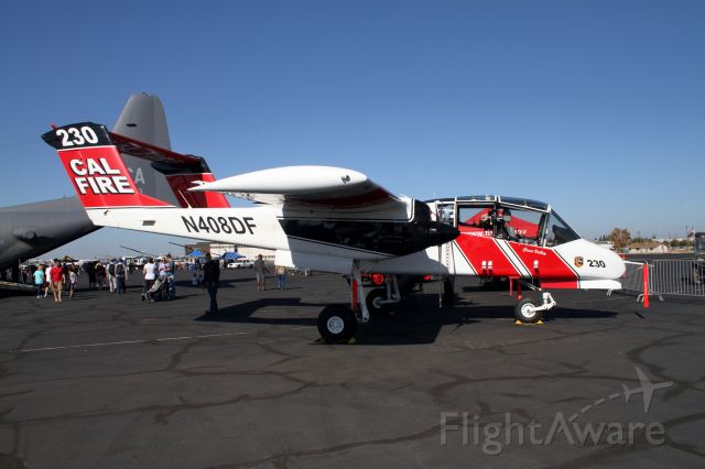 North American Rockwell OV-10 Bronco (N408DF) - California Capital Airshow - 10/01/16br /California Department of Forestry OV-10A br /Used to coordinate aerial assets on a fire with the Incident Commander on the ground.