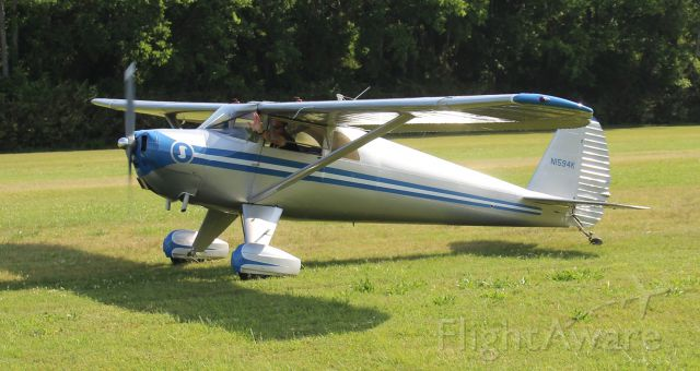 TEMCO Silvaire (N1594K) - A 1946 model Luscombe 8E taxiing for takeoff from Moontown Airport, Brownsboro, AL, during the EAA 190 Breakfast Fly-In - May 20, 2017.