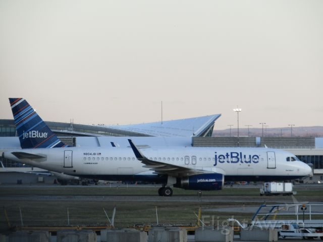 Airbus A320 (N804JB) - A320 stored at KBUF on the cargo ramp due to the coronavirus... Select the FULL option for HD!