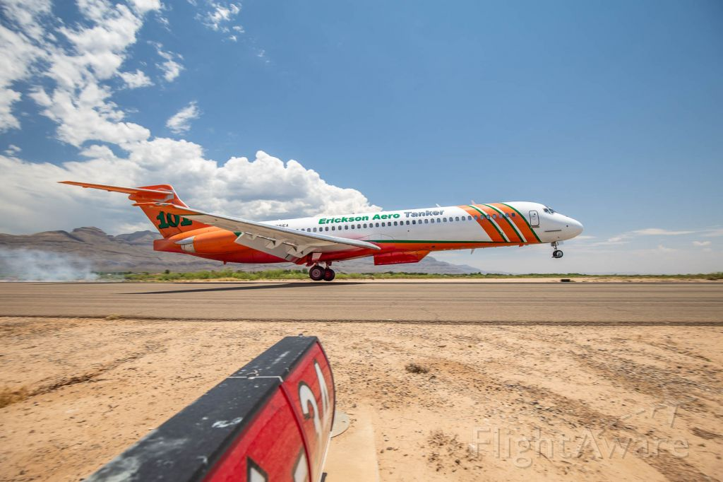 McDonnell Douglas MD-87 (N291EA) - Picture was taken during a wildfire suppressing mission at the Mescalero Apache Reservation near Alamogordo, NM