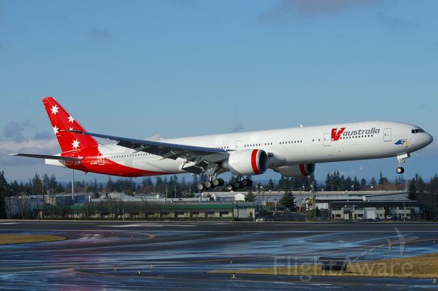 VH-VPE — - Second 777-3ZGER seen landing at KPAE after a pre-delivery test flight.