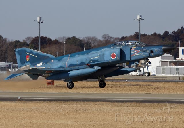 """McDonnell Douglas F-4 Phantom 2 (47-6905) - RF-4EJ of the 501st Tactical Reconnaissance Squadron departing Hyakuri Air Base for a morning sortie (please view in """"full"""" for highest image quality)"""