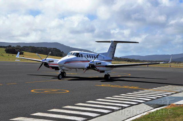 Beechcraft Super King Air 200 (VH-MVJ) - RFDS Kingair at Flinders Island, Sept 2017