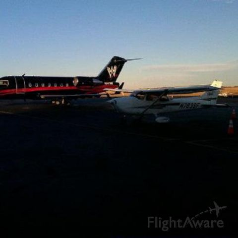 Cessna Skyhawk (N783SF) - Parked next to N247WE - Vince McMahon's plane!