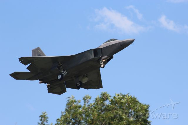 Lockheed F-22 Raptor — - First Fighter Wing F-22 Langley AFB VA participating in Volk Field's major Air-to-Air Combat Exercise - Operation Northern Lightning 2