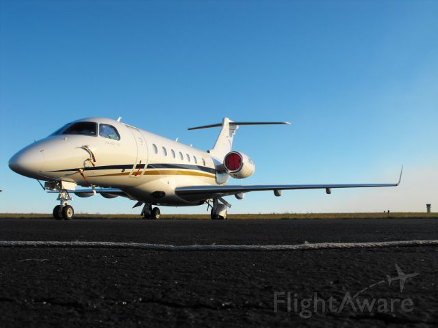 Embraer Legacy 550 (N657GF) - Brand new Embraer Legacy 500 on Million Airs ramp