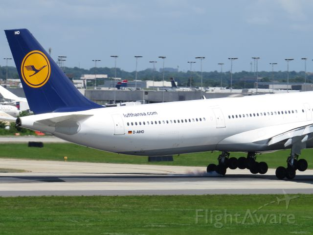 Airbus A340-600 (D-AIHO) - Taken July 6, 2013