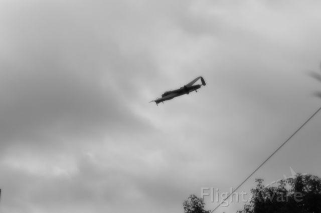 Avro 683 Lancaster — - A Lancaster WW2 aircraft over Hunstanton, Norfolk. UK.