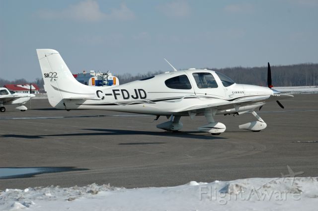 Cirrus SR-22 (C-FDJD) - 2005 Cirrus SR22 (C-FDJD/1321) on February 21, 2021.