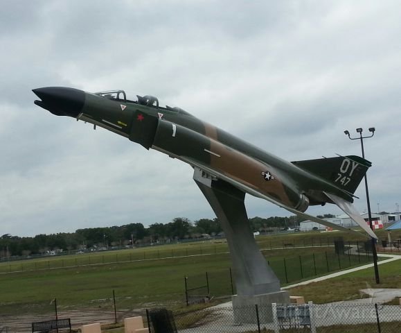 — — - F-4 in the colors of Col. Joe Kittinger from his second tour in Vietnam.  Displayed at Kittinger Park at Orlando Executive airport.