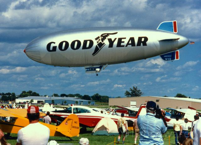Unknown/Generic Airship (N3A) - The Goodyear blimp America at Oshkosh, Wisconsin