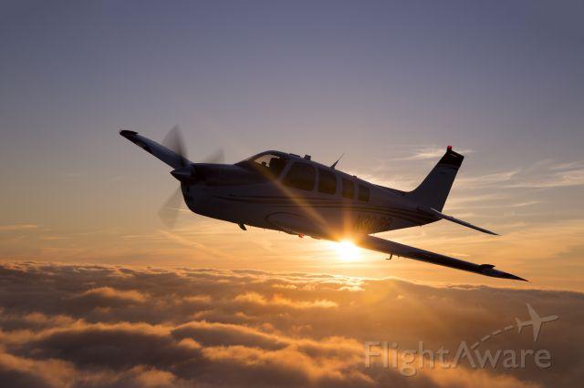 Beechcraft Bonanza (36) (N301RB) - Evening Air to Air over San Francisco 2/19/2015