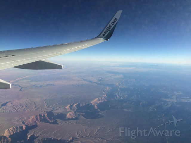 Boeing 737-700 — - After departing Vegas-CYYZ ended up flying right over the Grand Canyon! Only had my phone so couldn