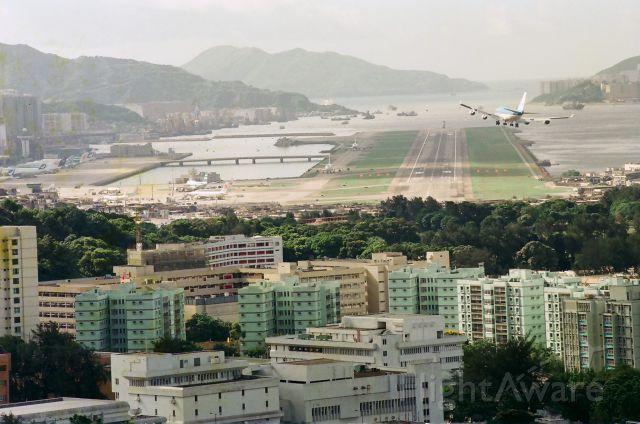 — — - Hong Kong Kai Tak International Airport