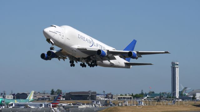 Boeing Dreamlifter (N747BC) - GTI4542 on rotation from Rwy 34L for a flight to KIAB on 7/1/15. (ln 904 / cn 25879).
