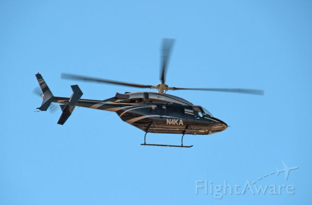 Bell 427 (N4KA) - This helicopter came overhead from Carson City and headed in the direction of Lake Tahoe