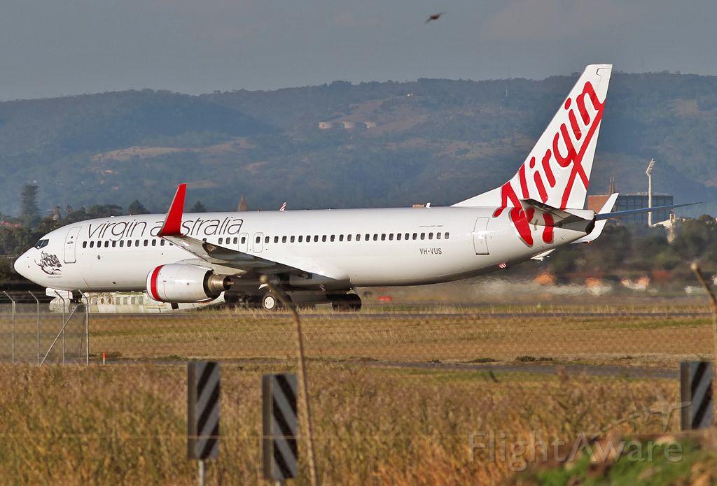 Boeing 737-800 (VH-VUS) - VIRGIN AUSTRALIA AIRLINES - BOEING 737-8FE - REG VH-VUS(CN 36607/3082) - ADELAIDE INTERNATIONAL AIRPORT SA. AUSTRALIA - YPAD (30/4/2015)