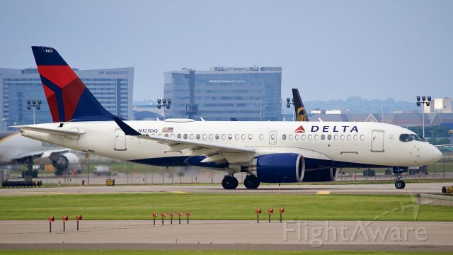 Airbus A220-100 (N123DQ) - Delta A220 taxing by.