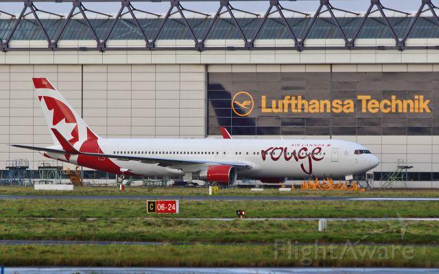 BOEING 767-300 (C-FMWU) - air canada rouge b767-3 c-fmwu at shannon 17/11/16.