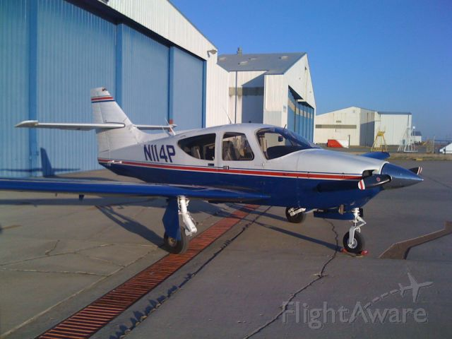 N114P — - On the ramp at AA hanger