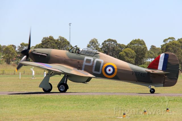 VH-JFW — - Hawker Hurricane Mk.XII.<br />Manufactured in Canada in 1942.<br />Hunter Valley Air Show 2017.<br />Maitland, NSW, Australia<br />Photo: 28.01.2017