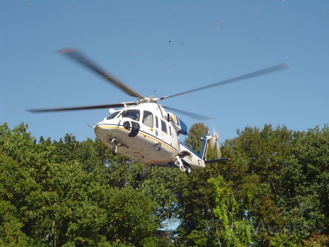 BELL-AGUSTA AB-139 (N9NJ) - NJ State Police Med-Evac at my fire house landing for a demo.