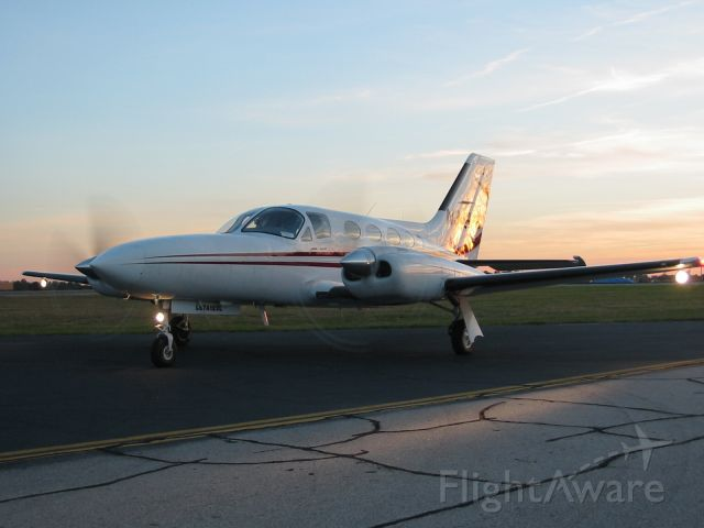 Cessna 421 (N344TC) - Photo Op at Sunset
