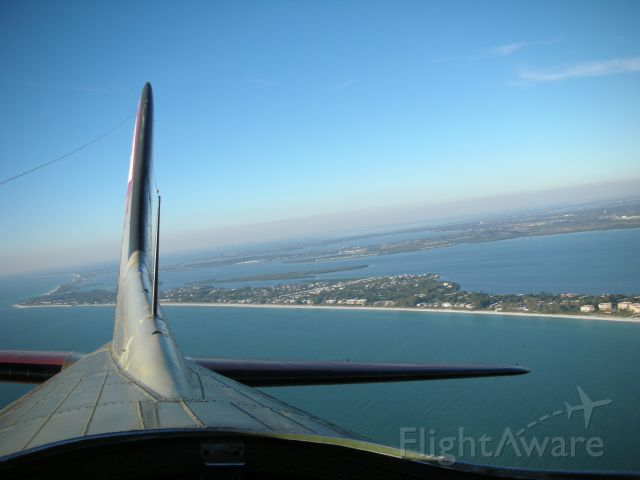 SAI93012 — - View from the top portal during a recent ride on a B17-G Nine o Nine.  Lonboat Key, FL is on the right.